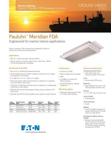 Pauluhn™ Meridian FDA fluorescent luminaire