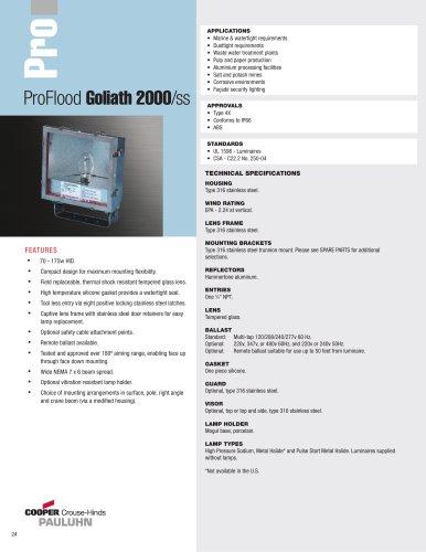 Pauluhn ProFlood Goliath 2000/ss Floodlights