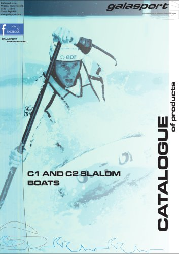 C1 and C2 slalom boats catalogue