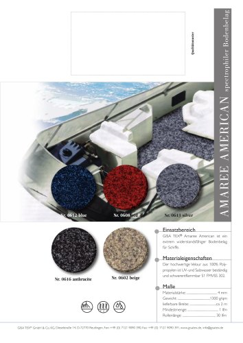 Extremly robust floor covering for boats