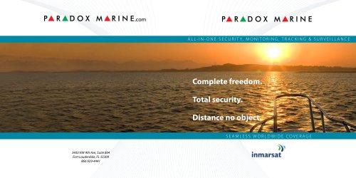 Paradox Marine 2009  Product Brochure