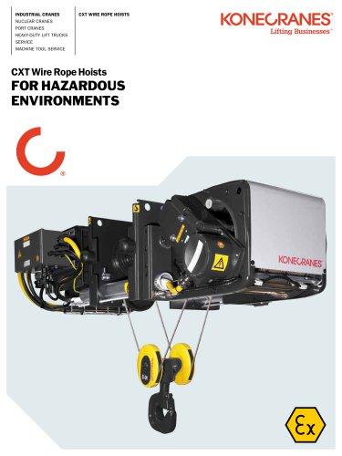 CXT Wire Rope Hoist for Hazardous Environments