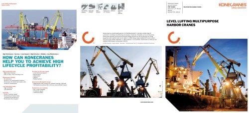 Level Luffing Multipurpose Harbour Cranes