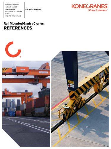 Rail Mounted Gantry Cranes REFERENCES