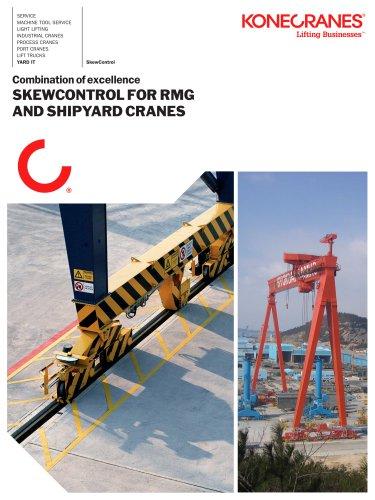 Skew control for RMG Shipyard Cranes