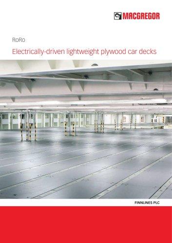 Electrically-driven lightweight plywood car decks