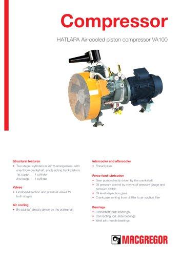HATLAPA Air-cooled piston compressor VA100