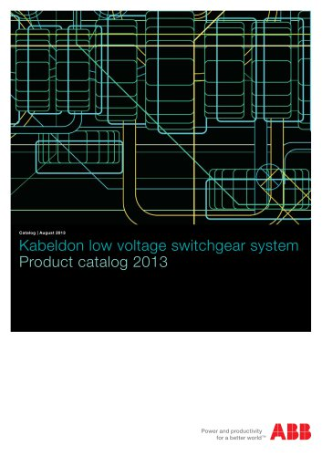2013 ? Product catalog ? Kabeldon low voltage switchgear system