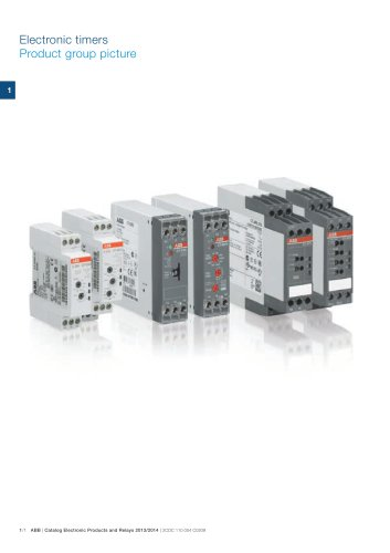 Catalog 2013/2014 Electronic Products and Relays - Chapter Electronic timers