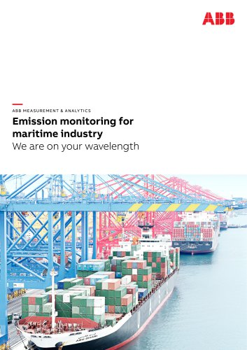 Emission monitoring for maritime industry | We are on your wavelength