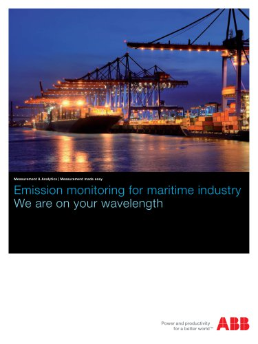 PDF Brochure - Emission monitoring for maritime industry | We are on your wavelength