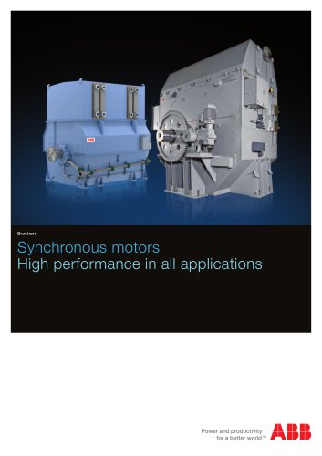 Synchronous motors - High performance in all applications