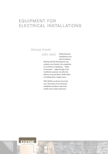 EQUIPMENT FOR ELECTRICAL INSTALLATIONS