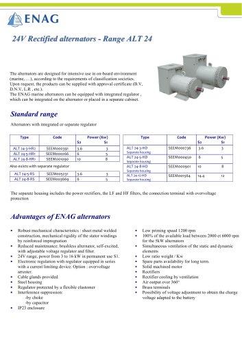 24Vdc alternator