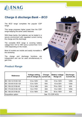 BCD range – Mobile Charge/Discharge