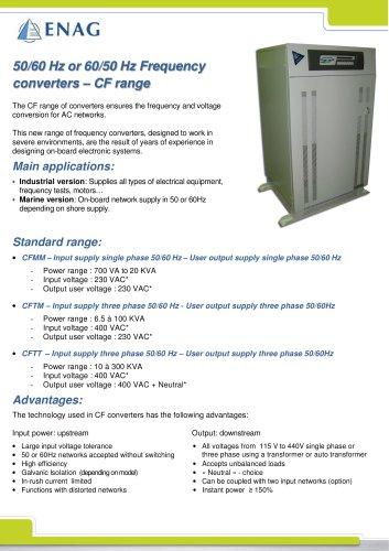 CF range – 50/60Hz ou 60/50Hz