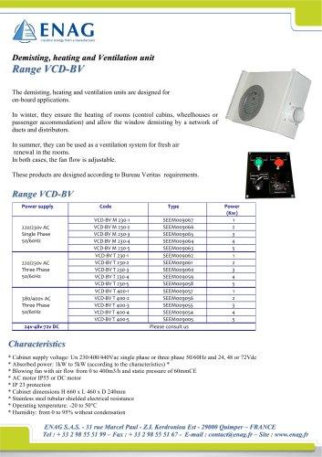 Demisting, heating and ventilation unit AC/DC