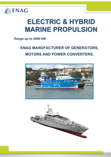 ELECTRIC AND HYBRID PROPULSION DC AND AC UP TO 2 MW
