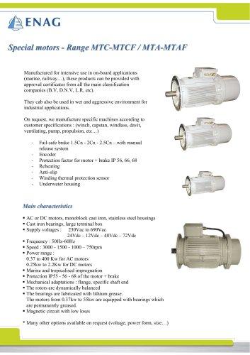 IP56 and IP68 Specifics motors