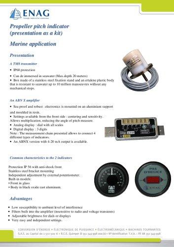 Propeller pitch indicator