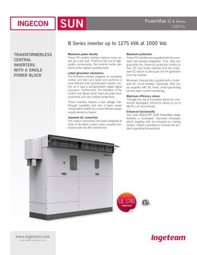 1000Vdc B Series