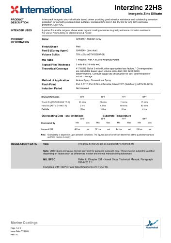 INTERZINC 22HS DATA SHEET