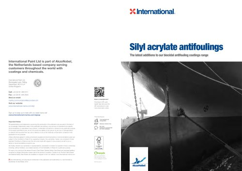 Silyl acrylate antifoulings