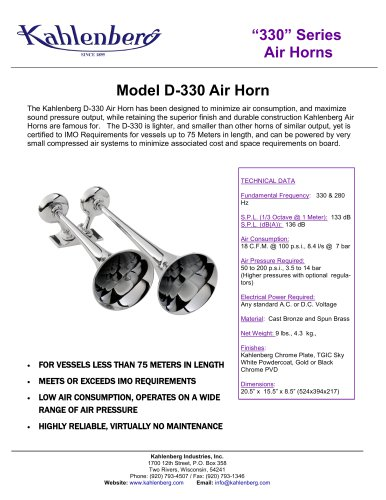 D-330 Air Horn