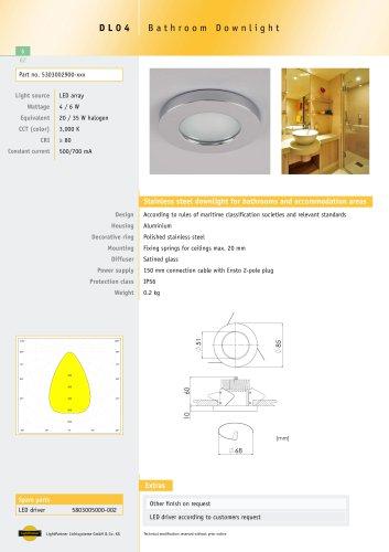 DL04 Bathroom Downlight, recessed, 4 W / 6 W