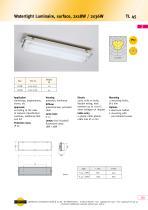 TL45 Watertight Luminaire, surface, 2x 18 W / 2x 36 W