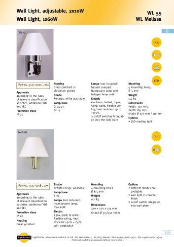 WL 55 Wall Light, adjustable