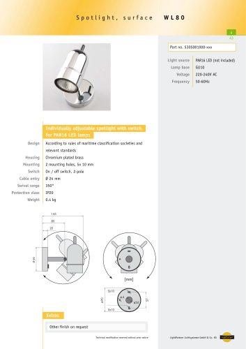 WL80 Adjustable Spotlight, surface