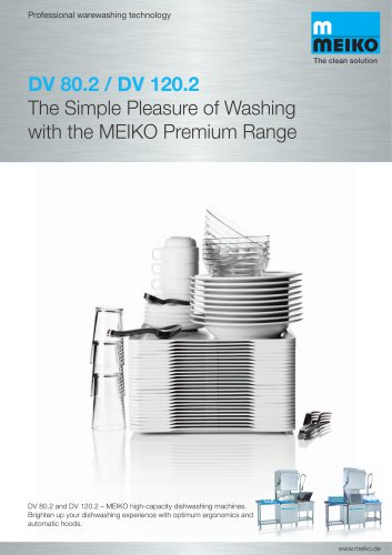 Catalogue Hood-type glass and-dishwashing machines Premium-line DV 80.2