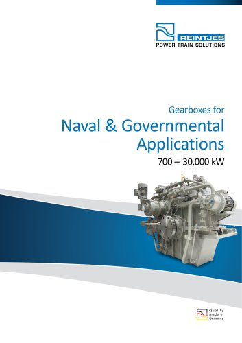 Gearboxes for Naval & Governmental Applications