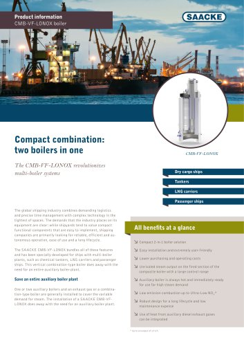 Compact combination: two boilers in one