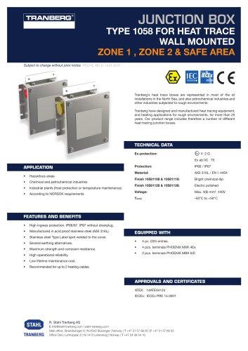 Datasheet TEF 105811 HT JB WM IECEx Pentair