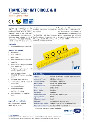 Datasheet TRANBERG® IMT CIRCLE & H System