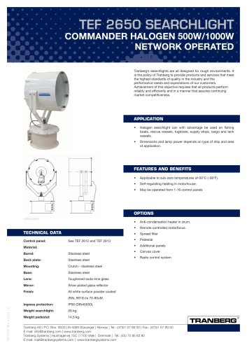 TEF 2650 Bus Operated Halogen - 500/1000W