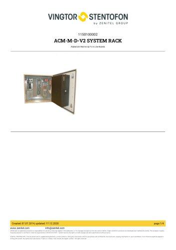 ACM-M-D-V2 SYSTEM RACK