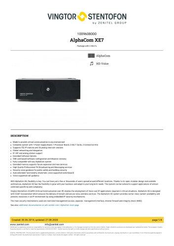 AlphaCom XE7