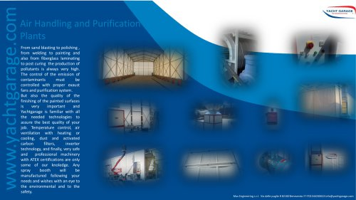 Shipyard's air handling and purification plants