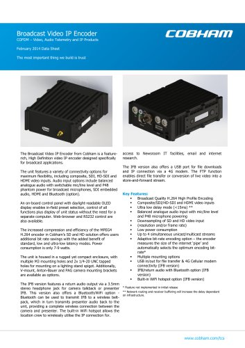 Broadcast IP Encoder