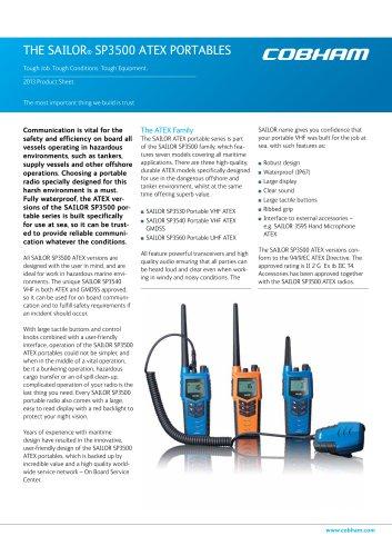 SAILOR SP3500 ATEX Portables