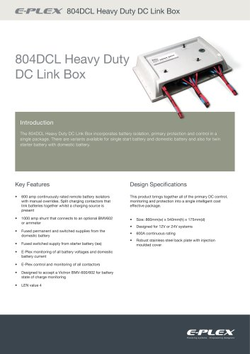 E-Plex 804DCL Heavy Duty DC Link Box