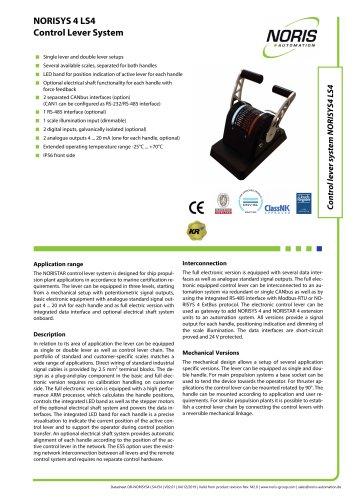 Datasheet NORISYS 4 LS4