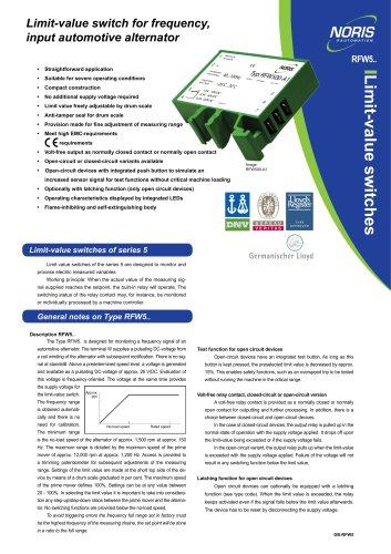 Datasheet RFW5