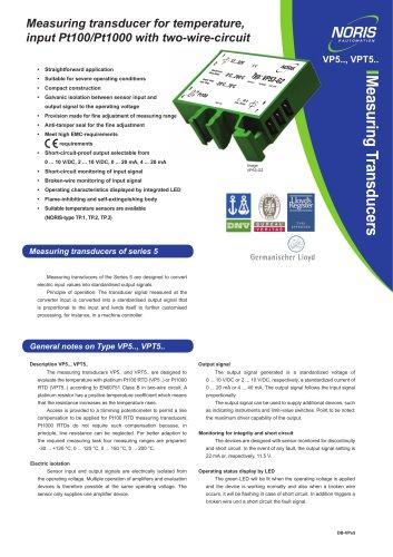 Datasheet VPT5