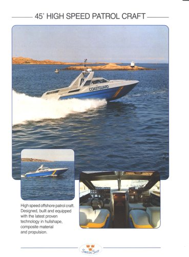 45' high speed patrol craft