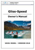 Owner Manual Gliss-Speed - Electric water go-kart - model GSR