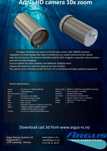 Argus HD camera